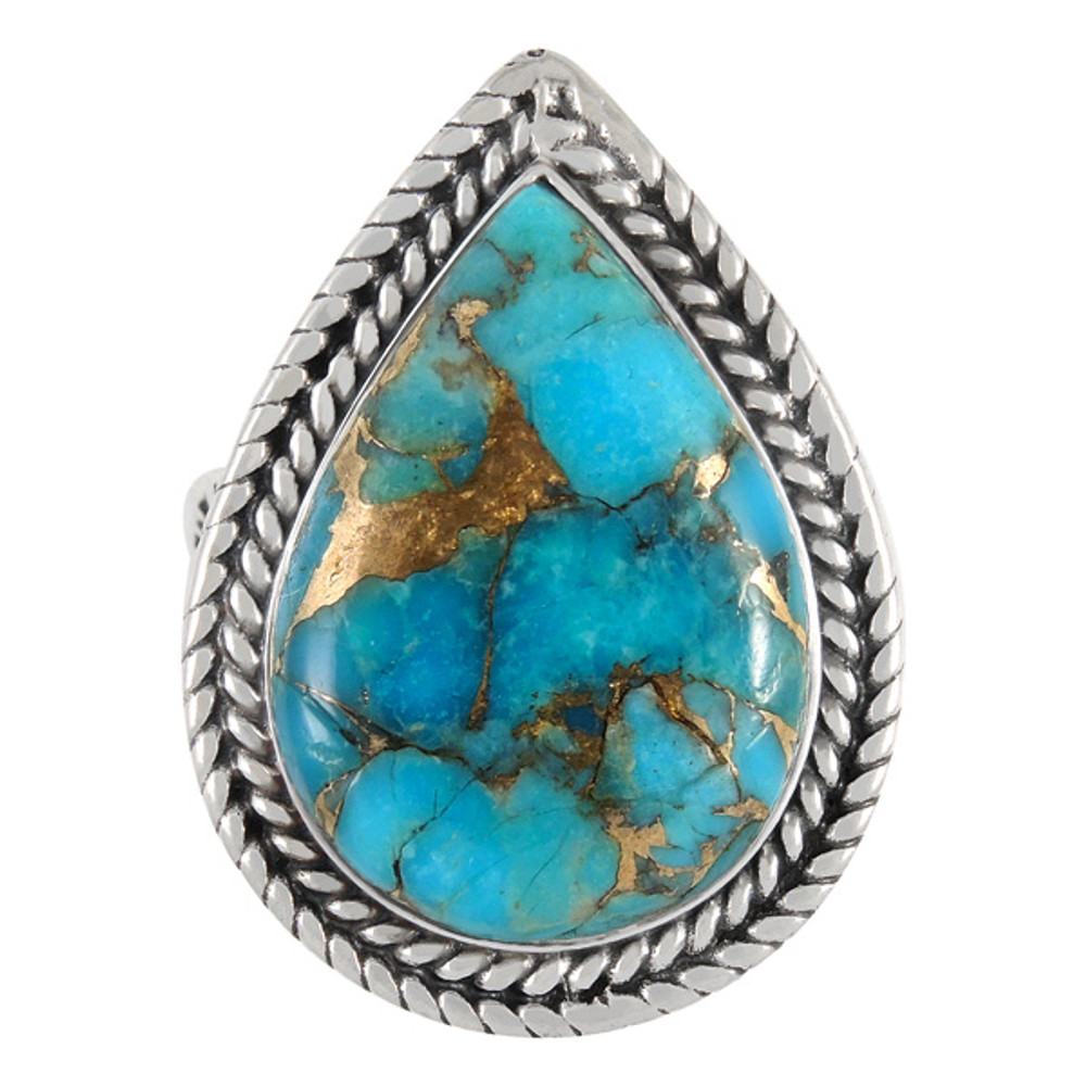 Matrix Turquoise Ring Sterling Silver R2443-C84