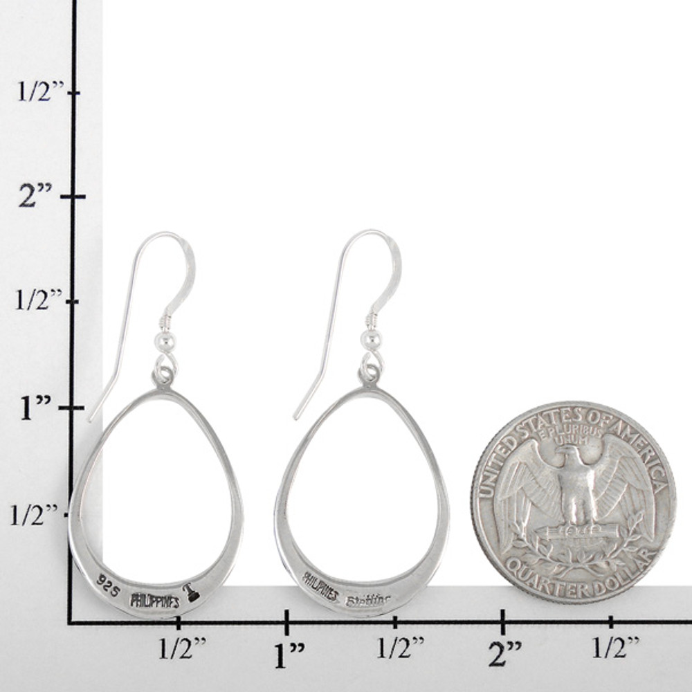 Sterling Silver Earrings Matrix Turquoise E1291-C84