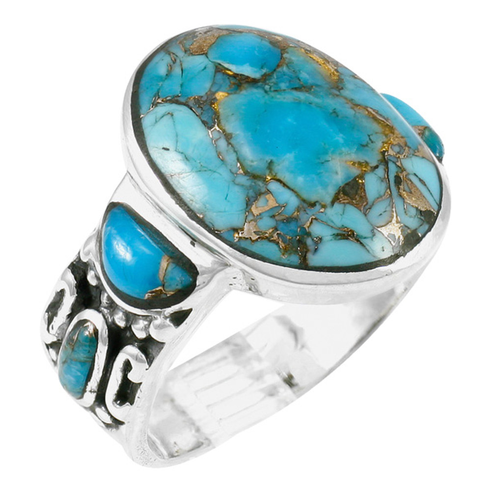 Matrix Turquoise Ring Sterling Silver R2434-C84