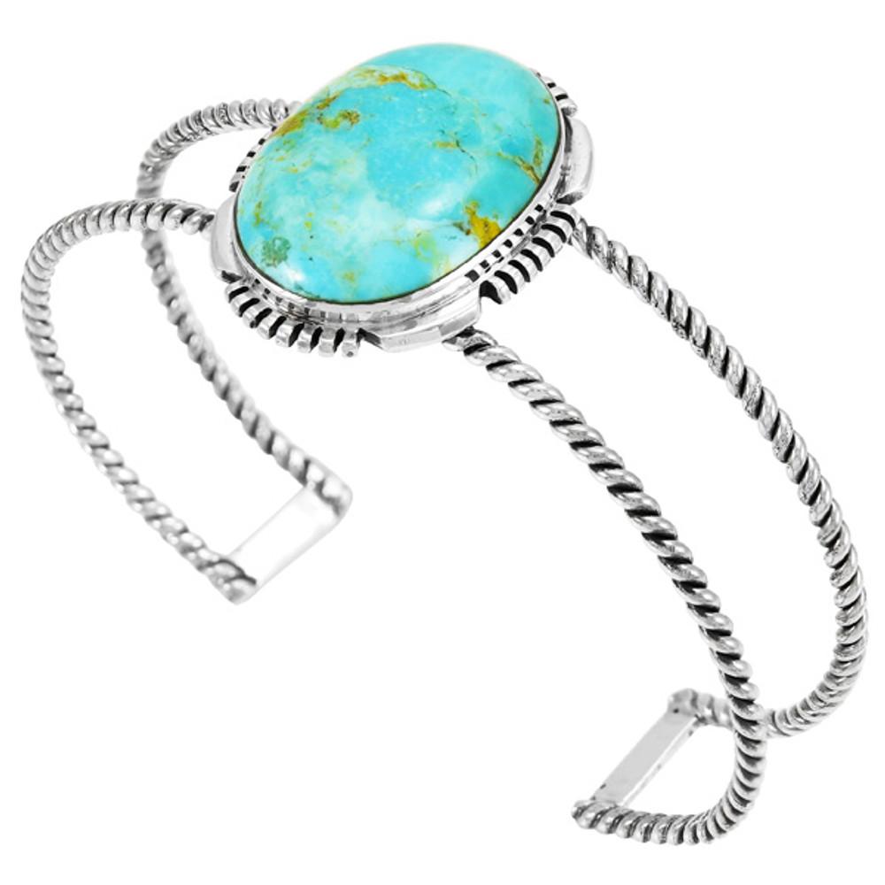 Turquoise Bracelet Sterling Silver B5571-C75