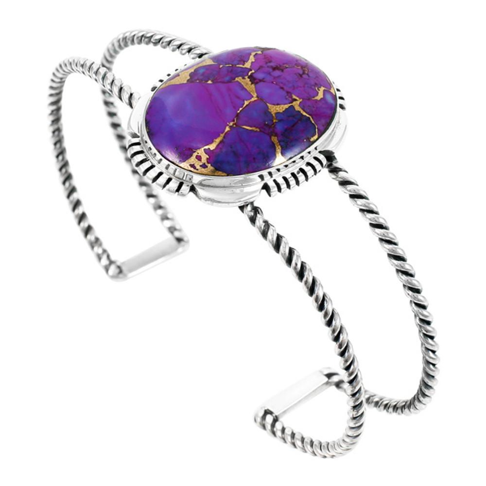 Purple Turquoise Bracelet Sterling Silver B5571-C77