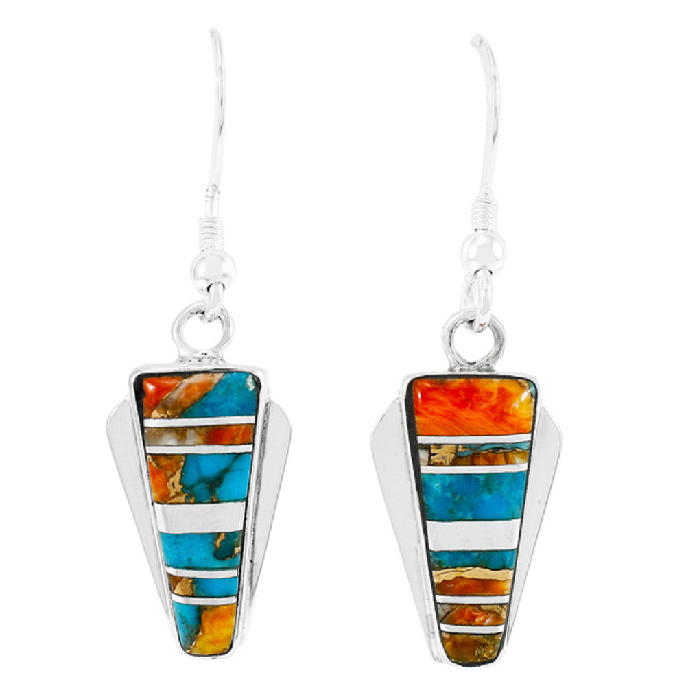 Spiny Turquoise Earrings Sterling Silver E1227-C89