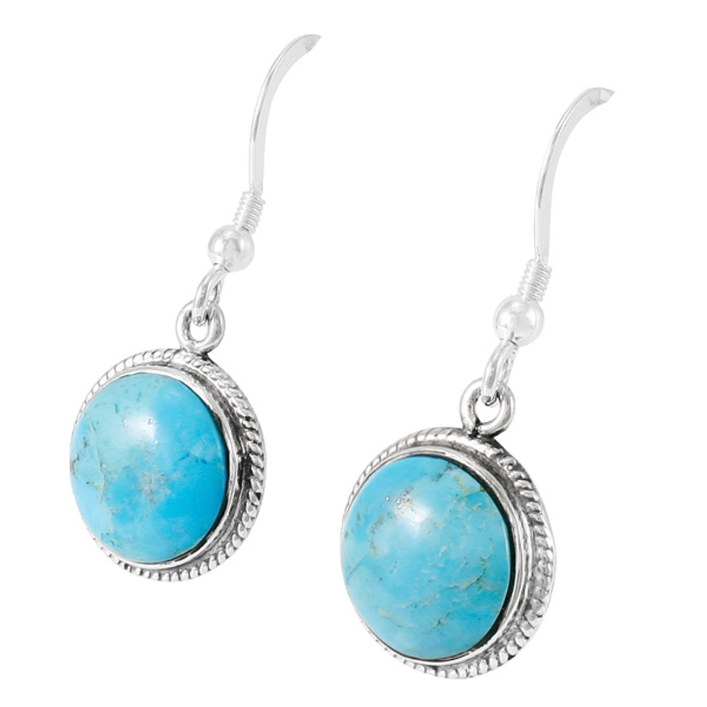 Turquoise Earrings Sterling Silver E1313-C75