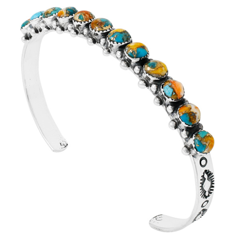 Spiny Turquoise Bracelet Sterling Silver B5426-C89
