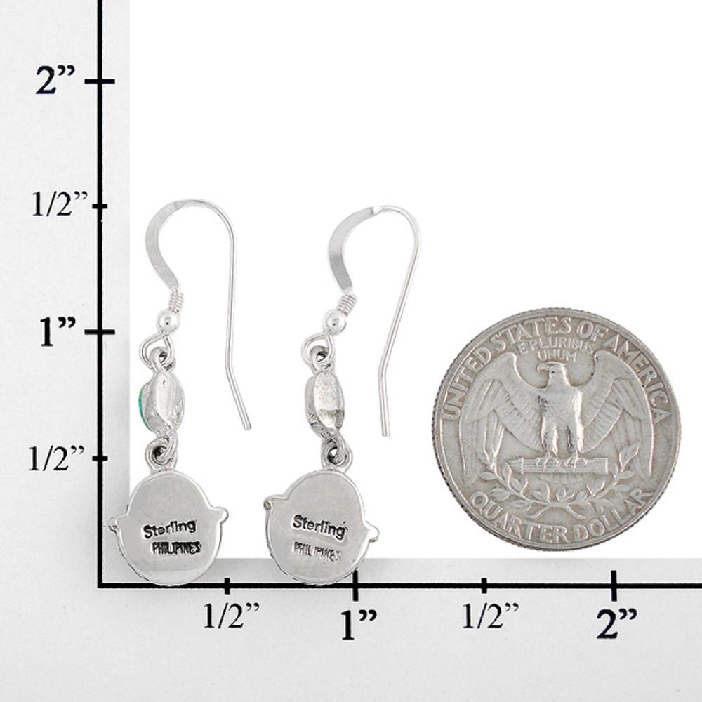 Sterling Silver Earrings Abalone Shell E1218-C10