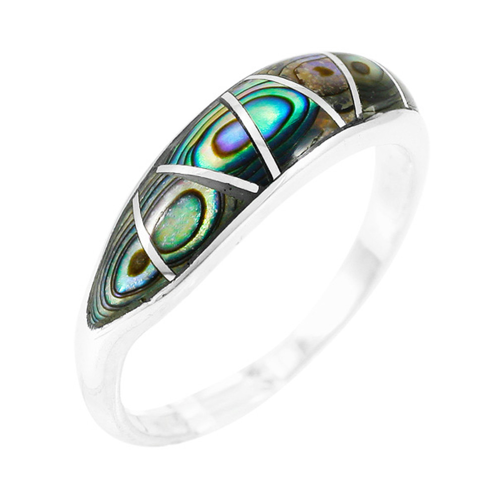 Sterling Silver Stackable Ring Turquoise R2052-C10
