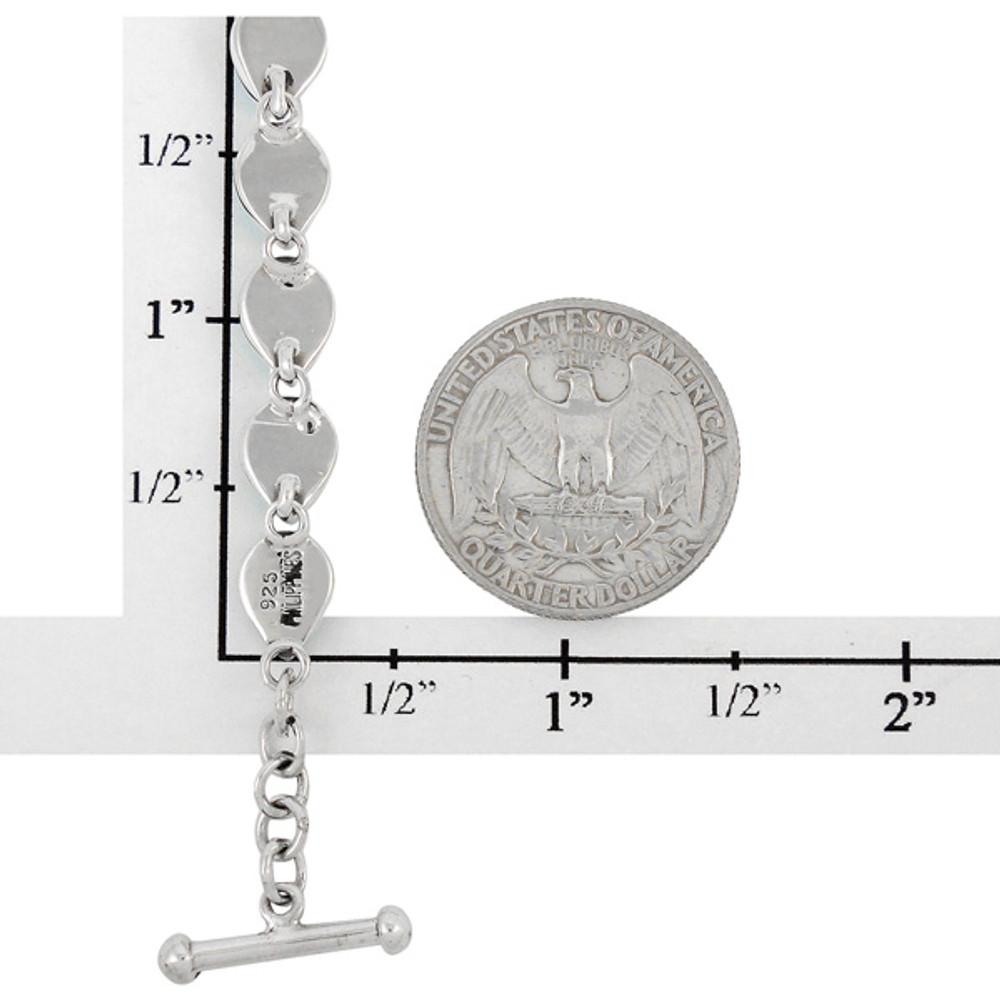 Spiny Turquoise Link Bracelet Sterling Silver B5565-C89
