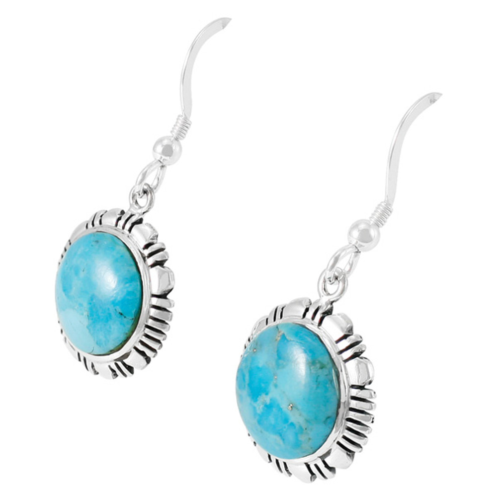 Sterling Silver Earrings Turquoise E1321-C75