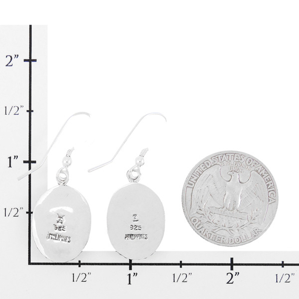 Sterling Silver Drop Earrings Turquoise E1323-C00