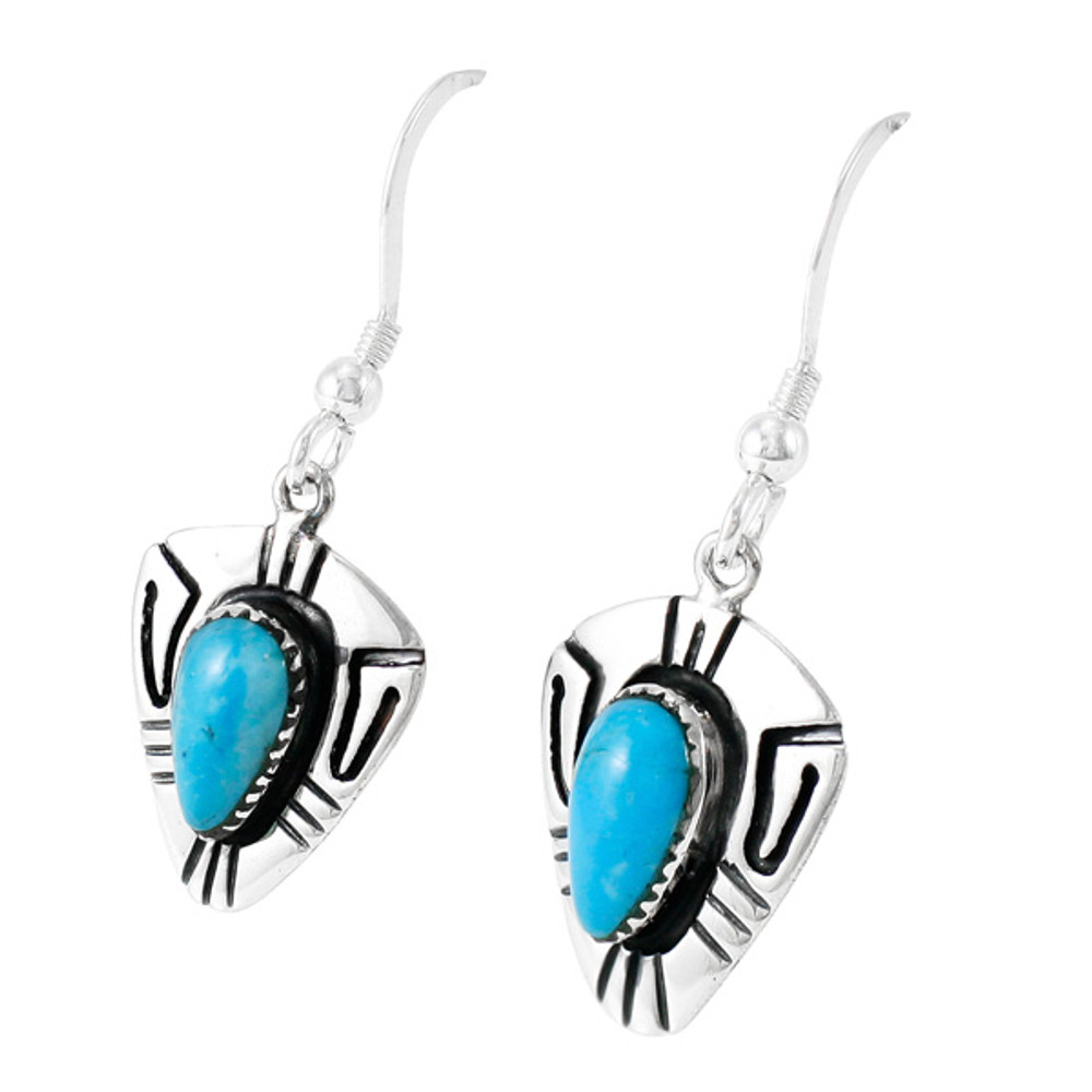 Turquoise Earrings Sterling Silver E1330-C75