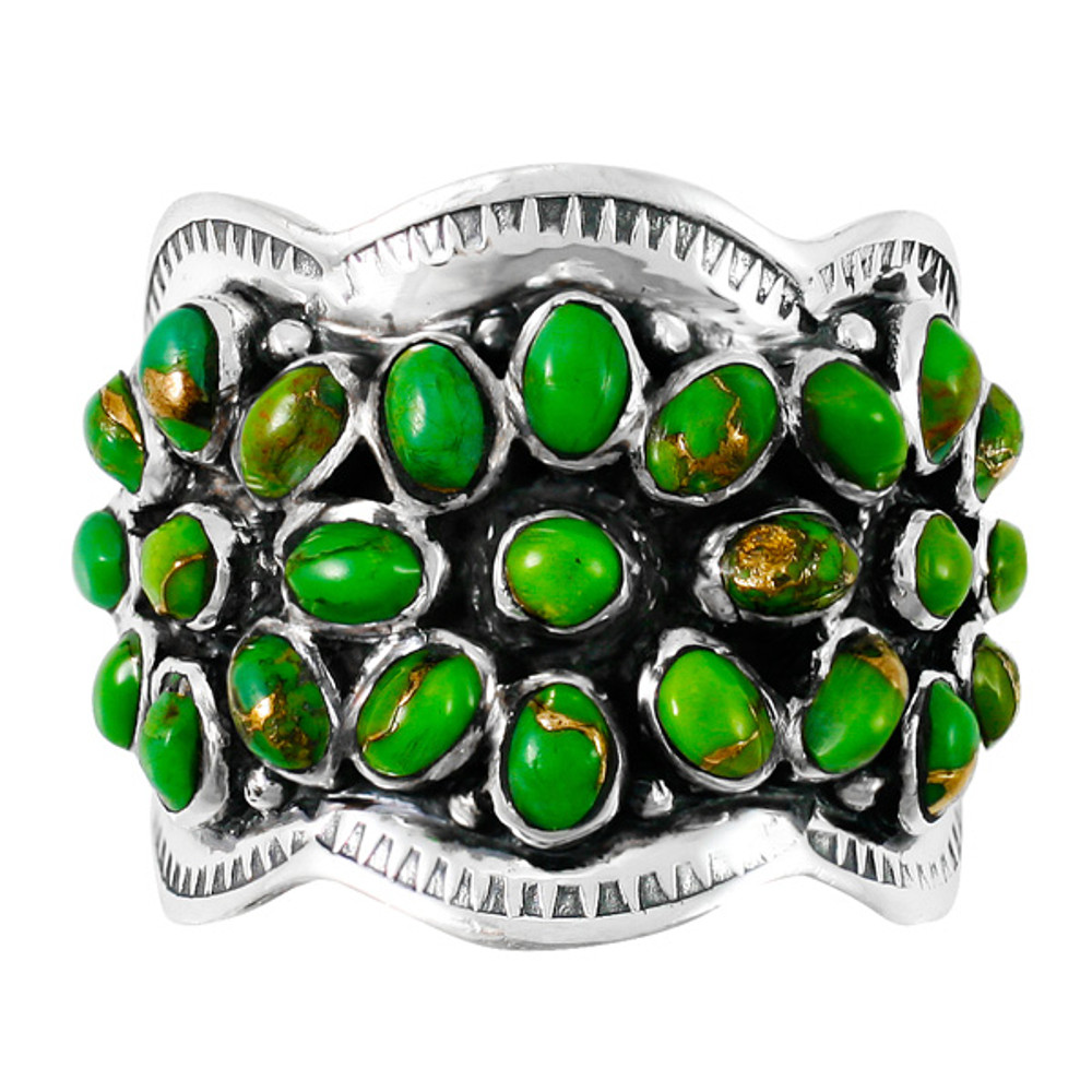 Green Turquoise Ring Sterling Silver R2433-C76