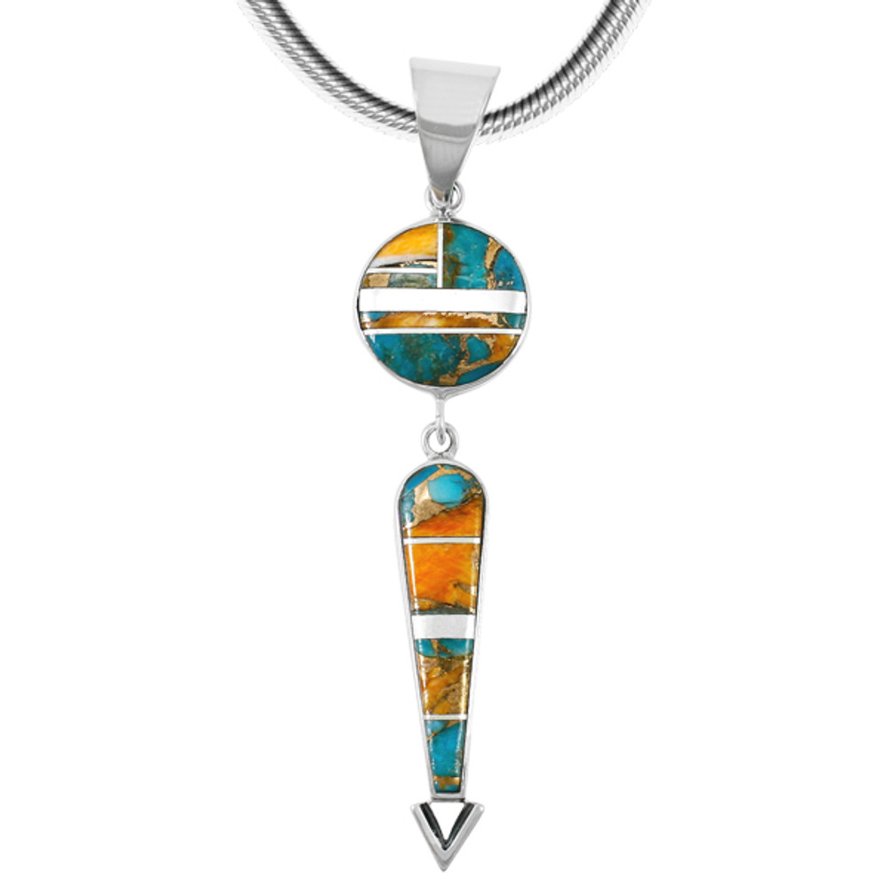 Sterling Silver Pendant Spiny Turquoise P3277-C89