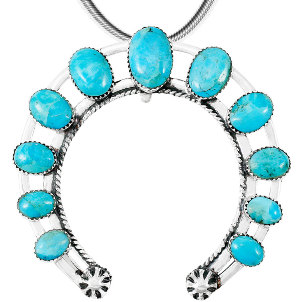 Turquoise Naja Pendant Sterling Silver P3278-C75
