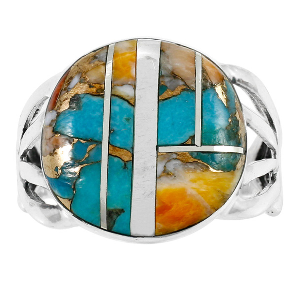 Spiny Turquoise Ring Sterling Silver R2431-C89