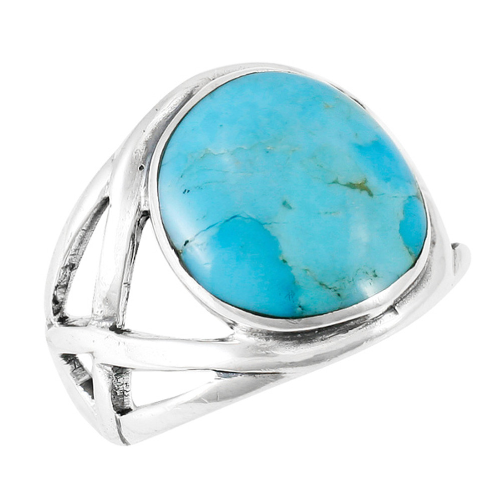 Turquoise Ring Sterling Silver R2431-C75