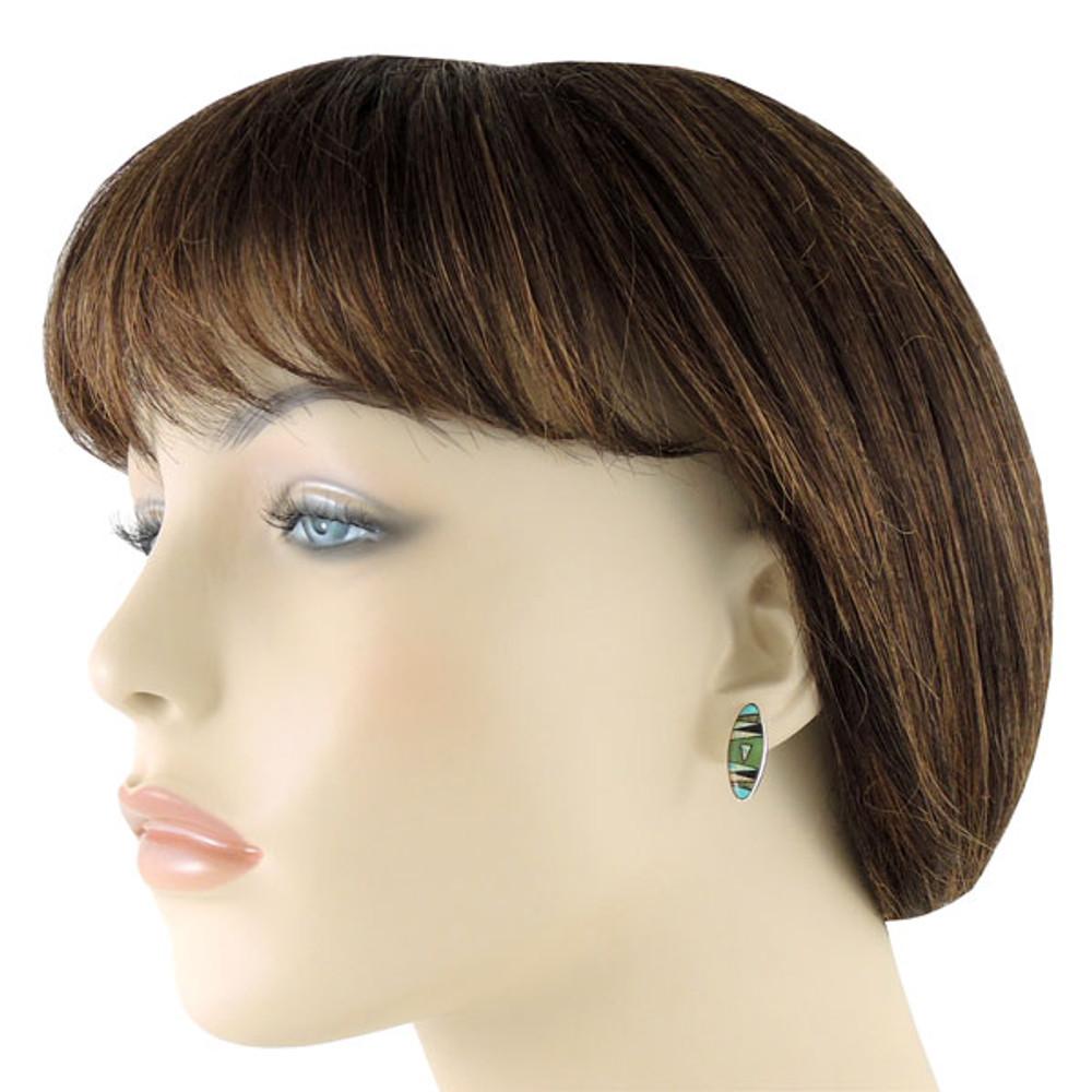 Sterling Silver Pendant & Earrings Set Multi Gemstone PE4028-C03