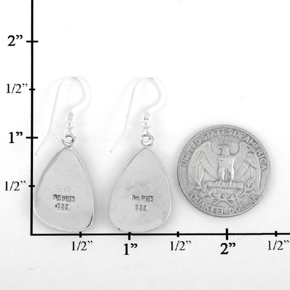 Turquoise Jewelry Drop Earrings Sterling Silver E1058-C87