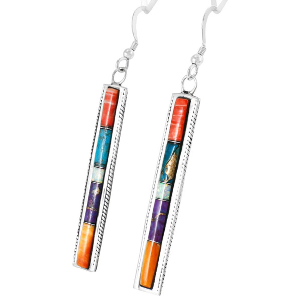 Multi Gemstone Earrings Sterling Silver E1336-C00