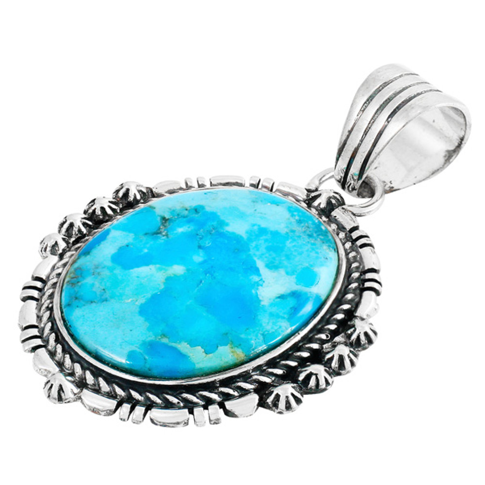 Turquoise Pendant Jewelry Sterling Silver P3280-C75