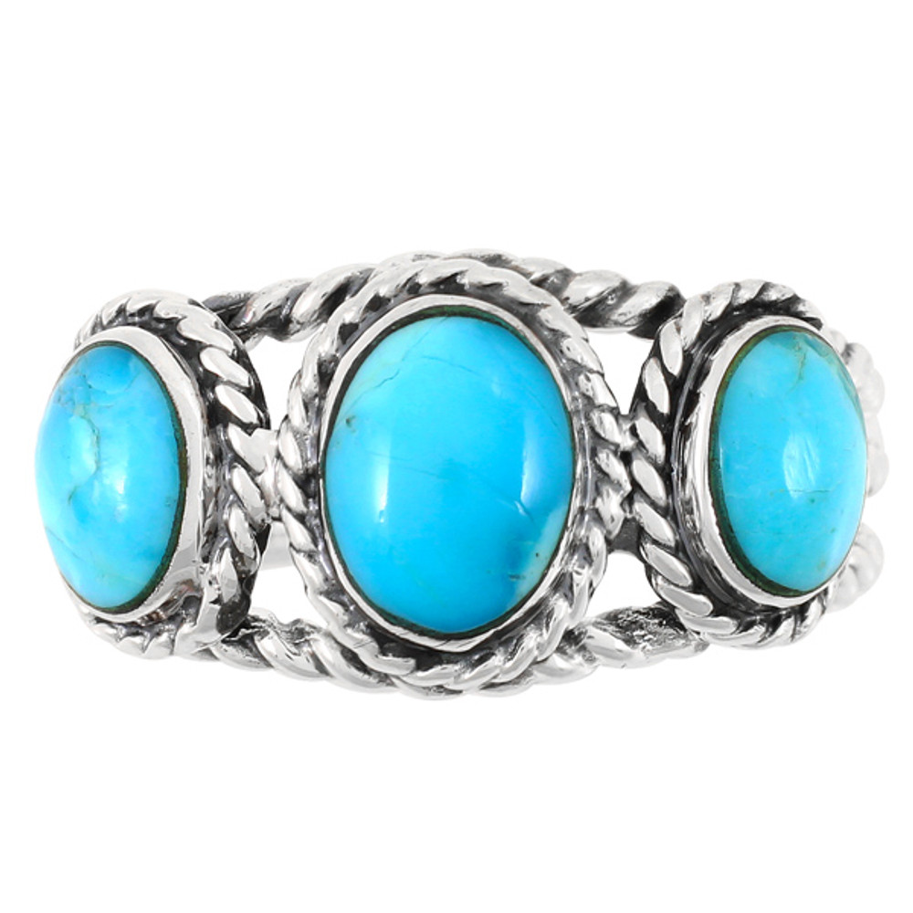 Turquoise Ring Sterling Silver R2454-C75