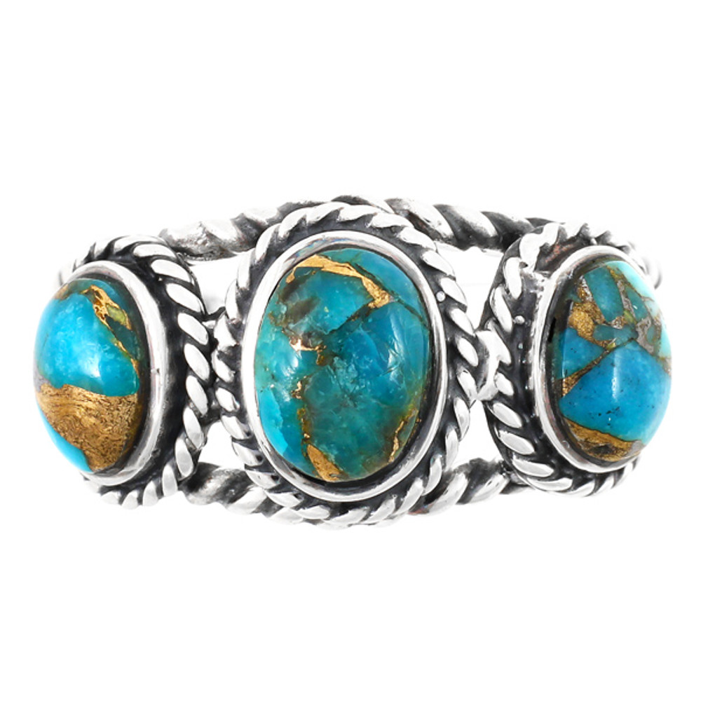 Matrix Turquoise Ring Sterling Silver R2454-C84