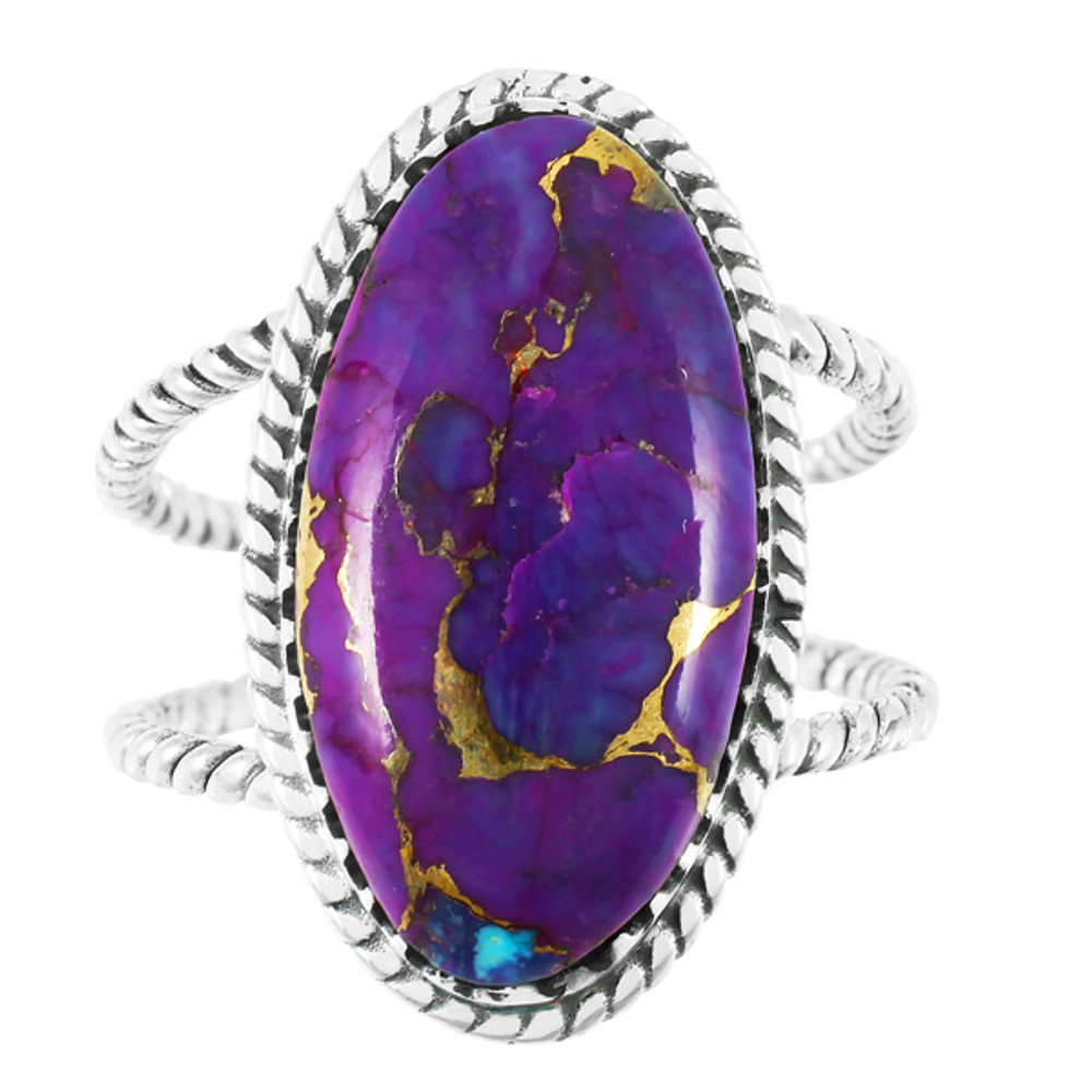 Purple Turquoise Ring Sterling Silver R2449-C77