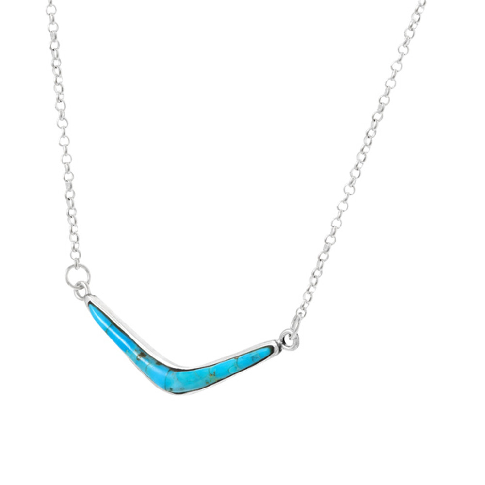 Turquoise Necklace Sterling Silver N6012-C75