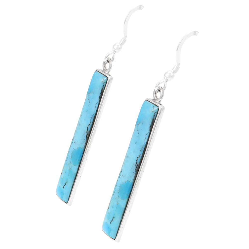 Turquoise Earrings Sterling Silver E6006-C75