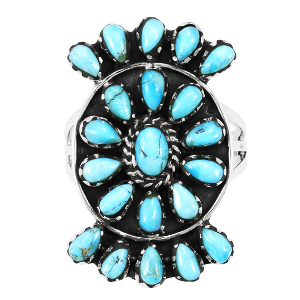 Turquoise Ring Sterling Silver R2455-C75