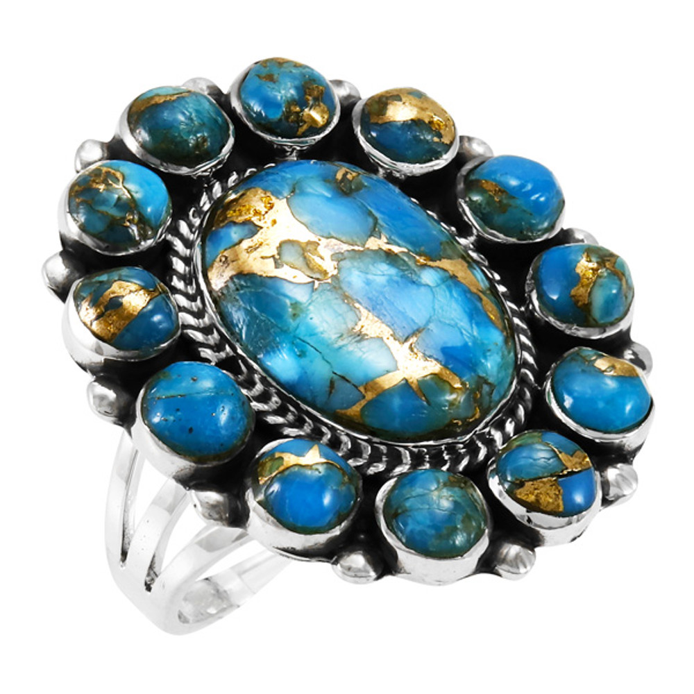 Matrix Turquoise Ring Sterling Silver R2457-C84