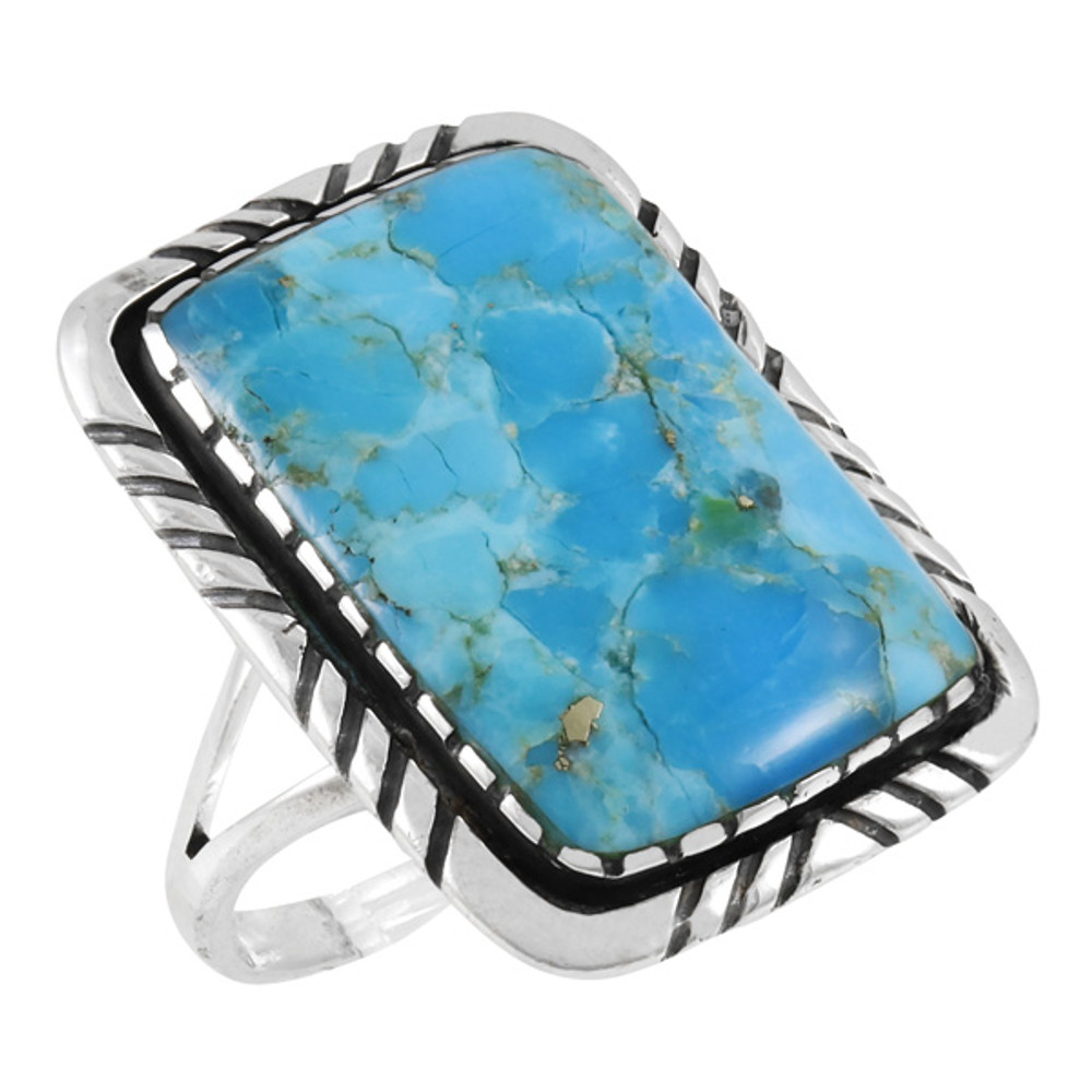 Turquoise Jewelry Ring Sterling Silver R2463-C75
