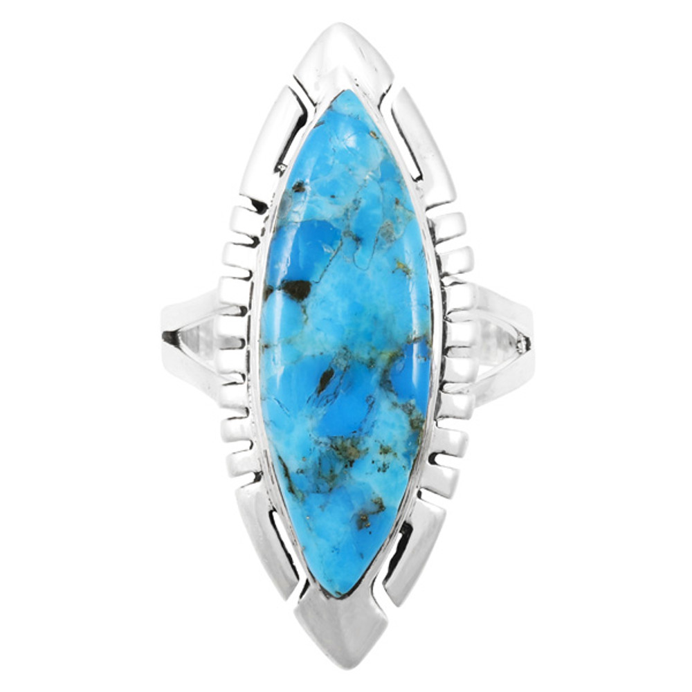 Turquoise Jewelry Ring Sterling Silver R2461-C75