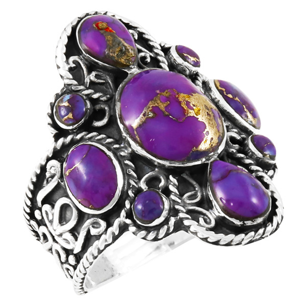 Purple Turquoise Ring Sterling Silver R2416-C77