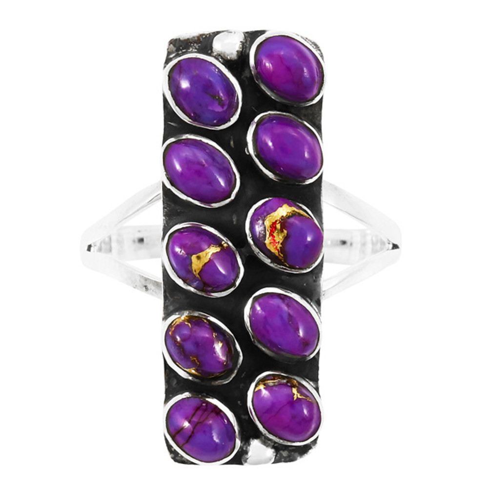Purple Turquoise Ring Sterling Silver R2471-C77