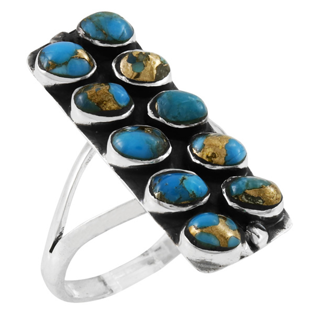 Matrix Turquoise Ring Sterling Silver R2471-C84