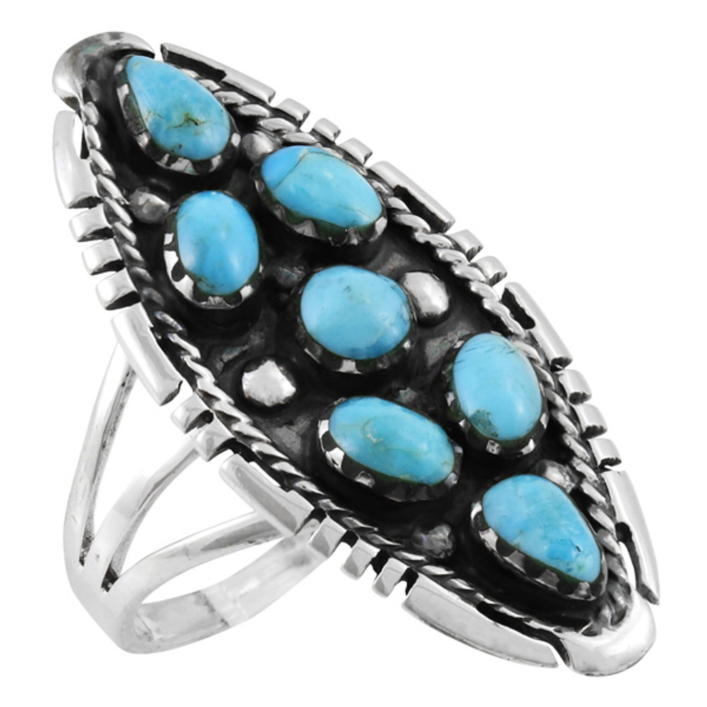 Turquoise Ring Sterling Silver R2468-C75
