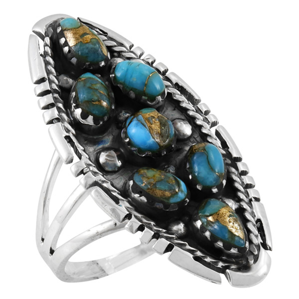 Matrix Turquoise Ring Sterling Silver R2468-C84