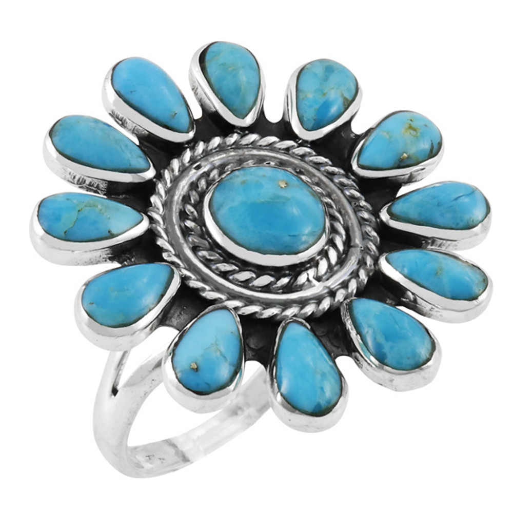 Turquoise Ring Sterling Silver R2470-C75