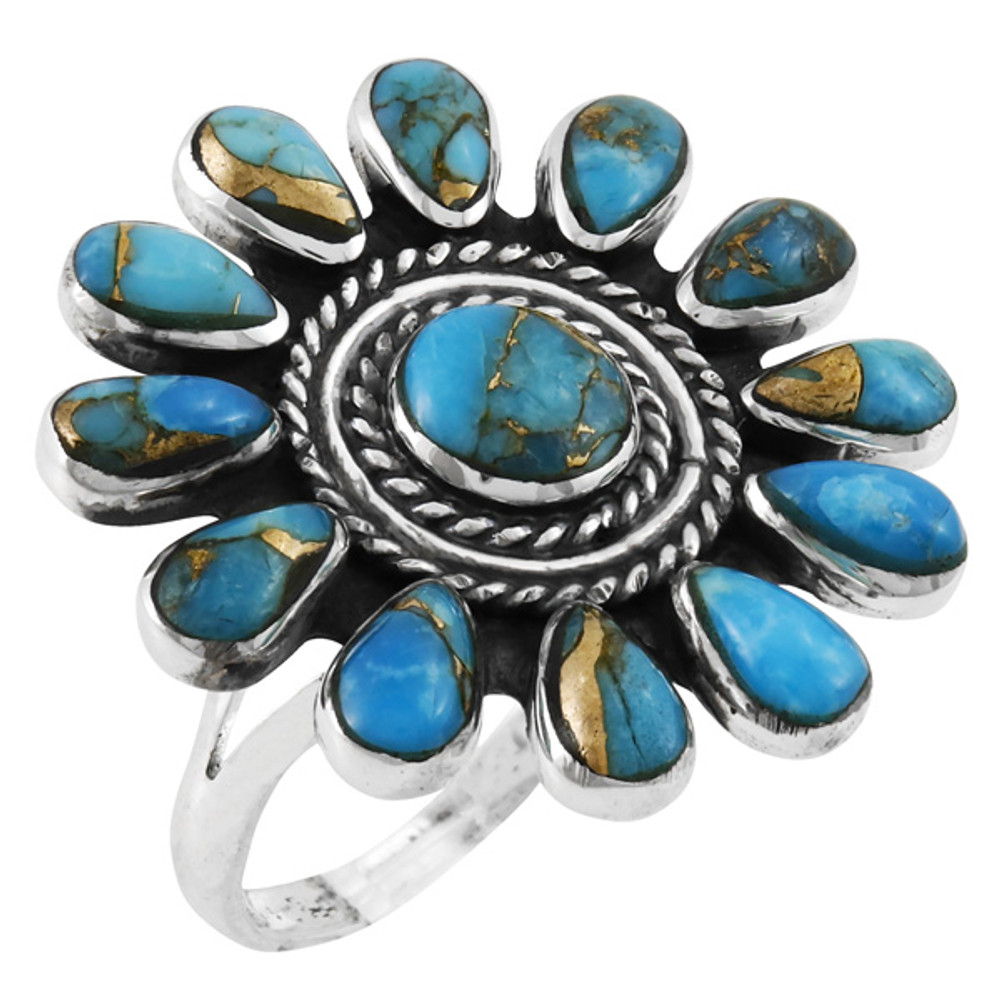 Matrix Turquoise Ring Sterling Silver R2470-C84