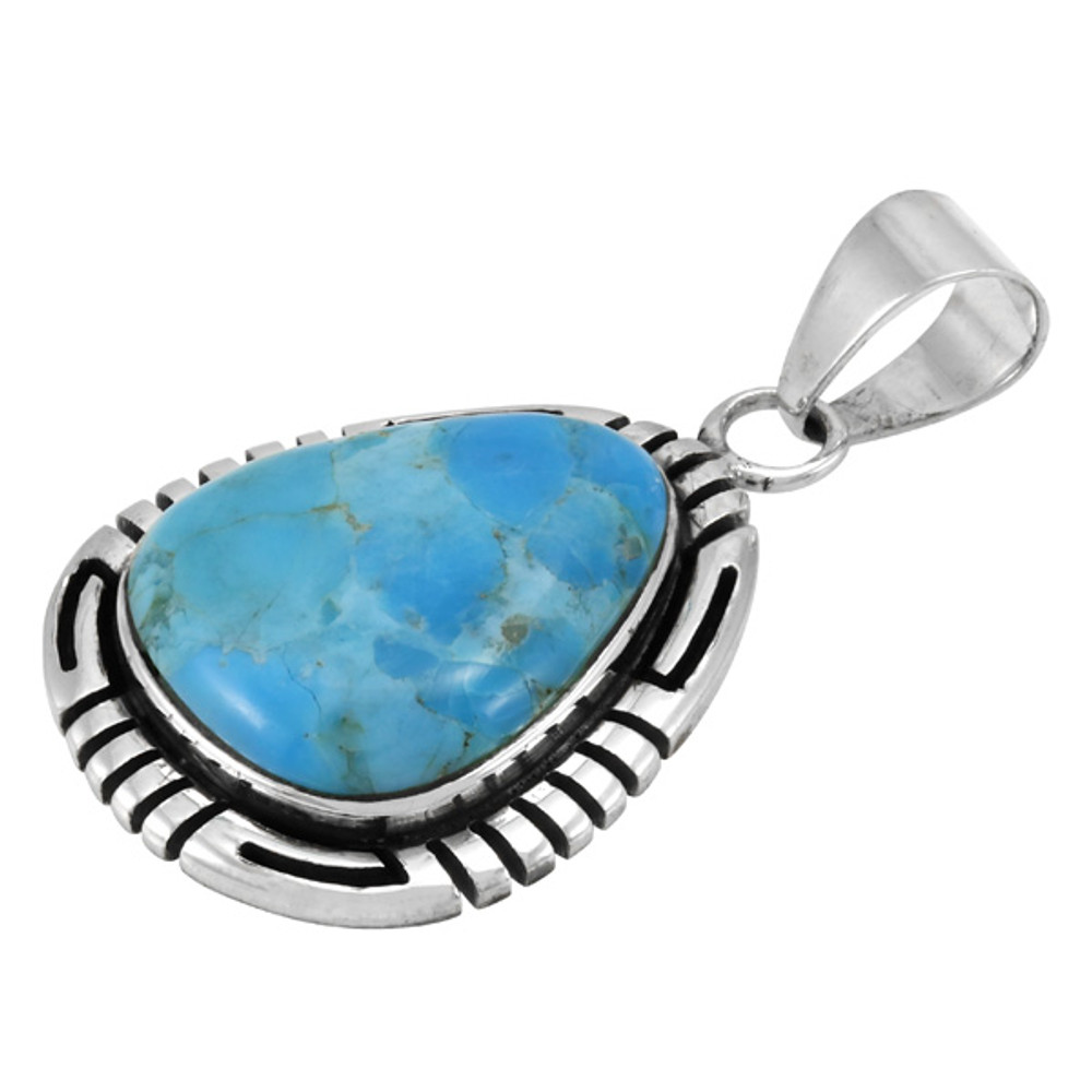 Turquoise Pendant Sterling Silver P3287-C75