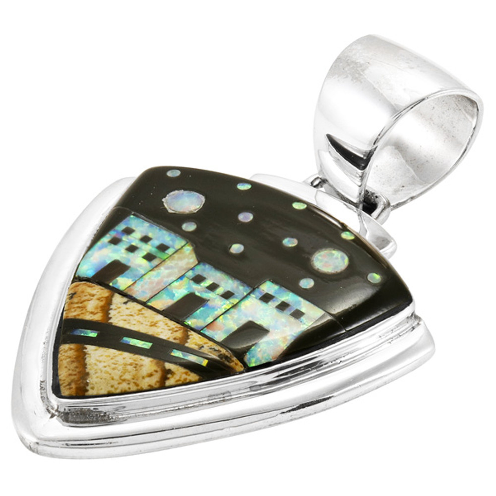 Multi-Gemstone Pendant Sterling Silver P3026-C11P