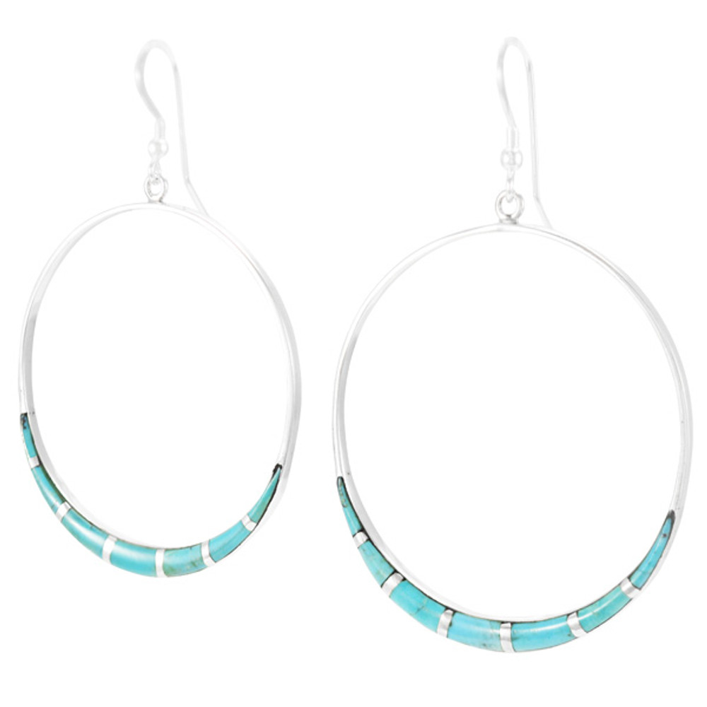 Turquoise Earrings Sterling Silver E1064-C05
