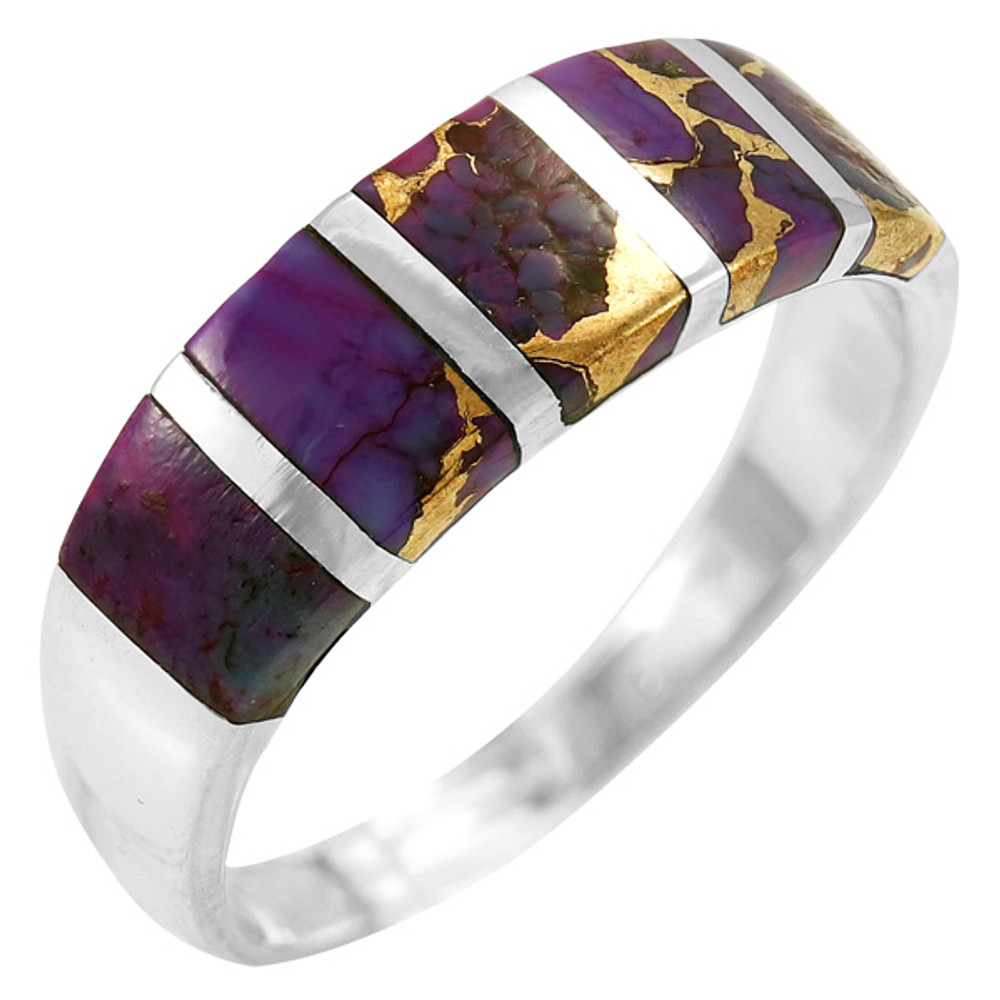 Purple Turquoise Ring Sterling Silver R2465-C77
