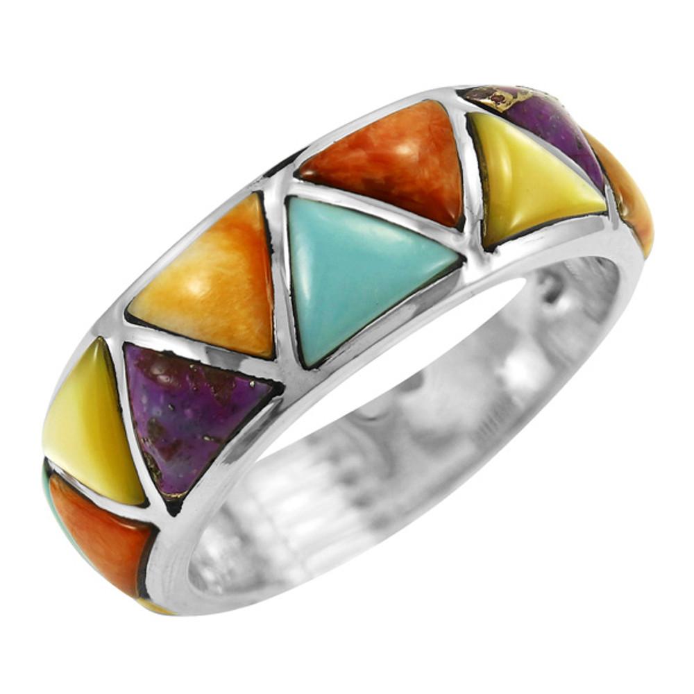 Multi Gemstone Ring Sterling Silver R2477-C71