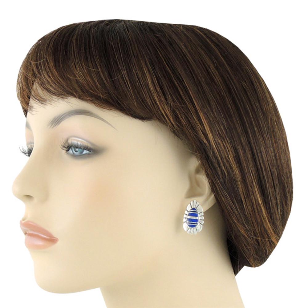 Lapis Earrings Sterling Silver E1142-C12