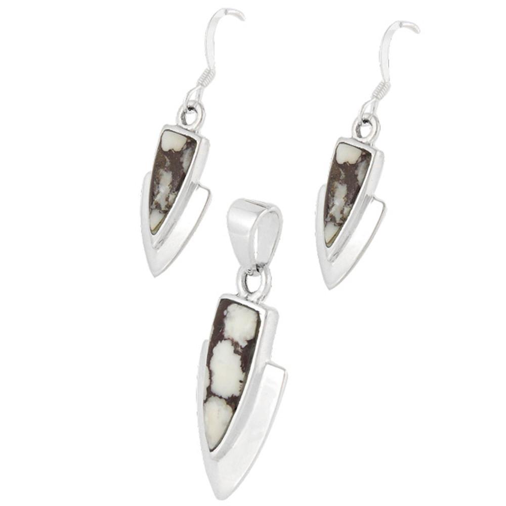Wild Horse Pendant & Earrings Set Sterling Silver PE4001-C102