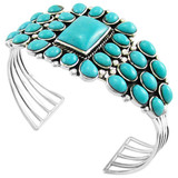 Turquoise Bracelet Sterling Silver B5176-C75
