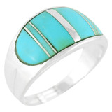 Turquoise Ring Sterling Silver R2234-C05