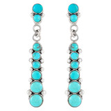 Sterling Silver Earrings Turquoise E1126-C05