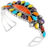 Multi Gemstone Bracelet Sterling Silver B5494-C71